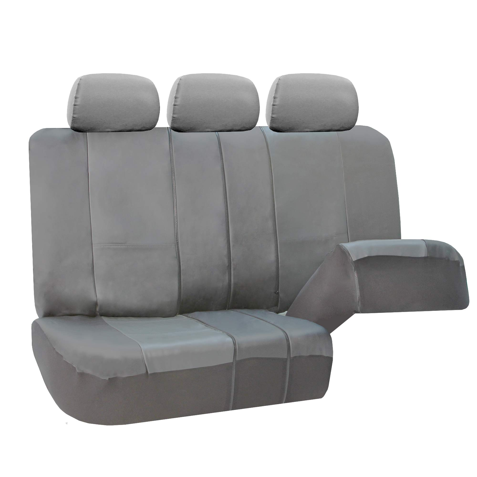 3 Row Pu Leather Seat Covers Airbag Safe Split Bench