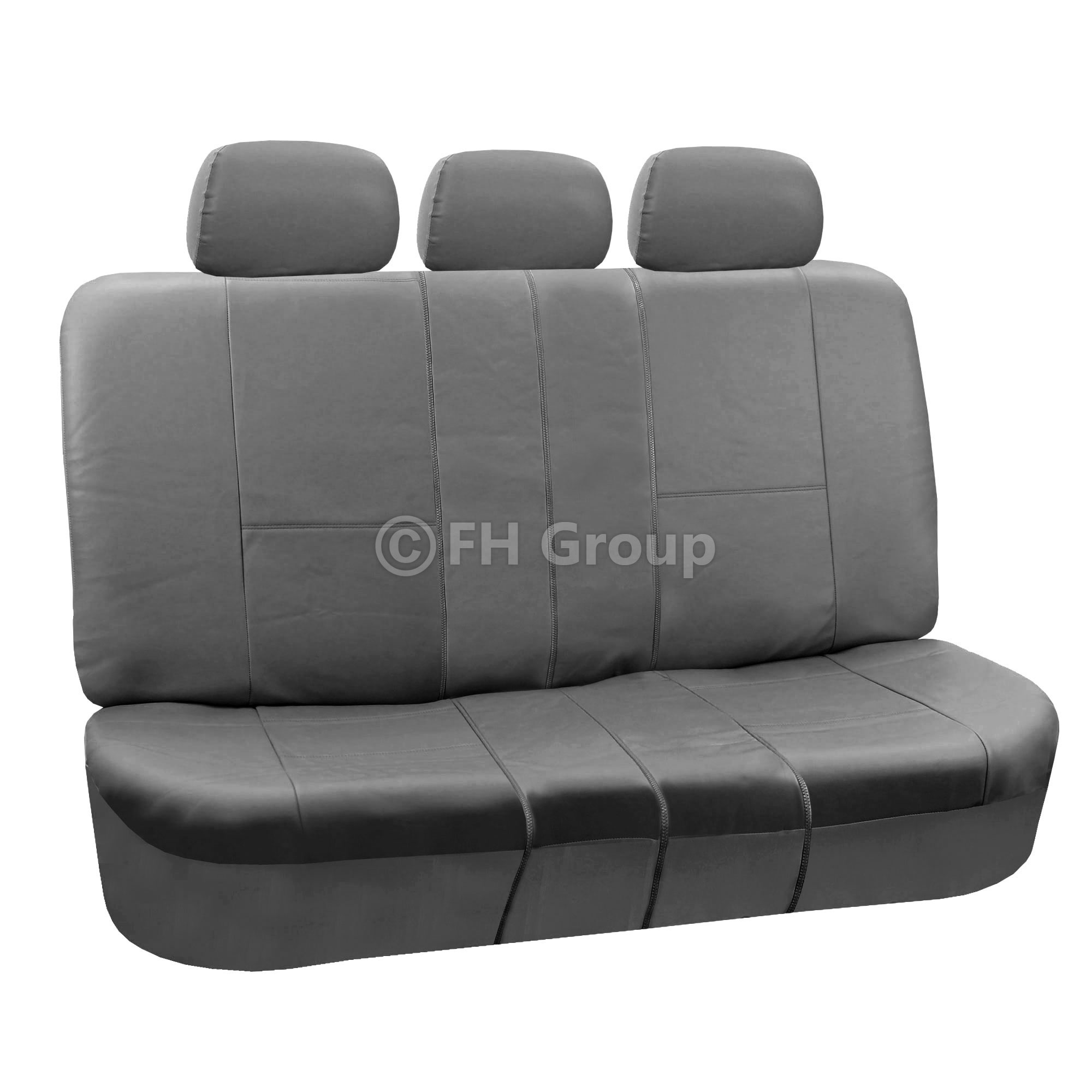 Marvelous photograph of Details about PU Leather Car Seat Covers w. Floor Mats for Split Bench with #3C3C3C color and 2000x2000 pixels