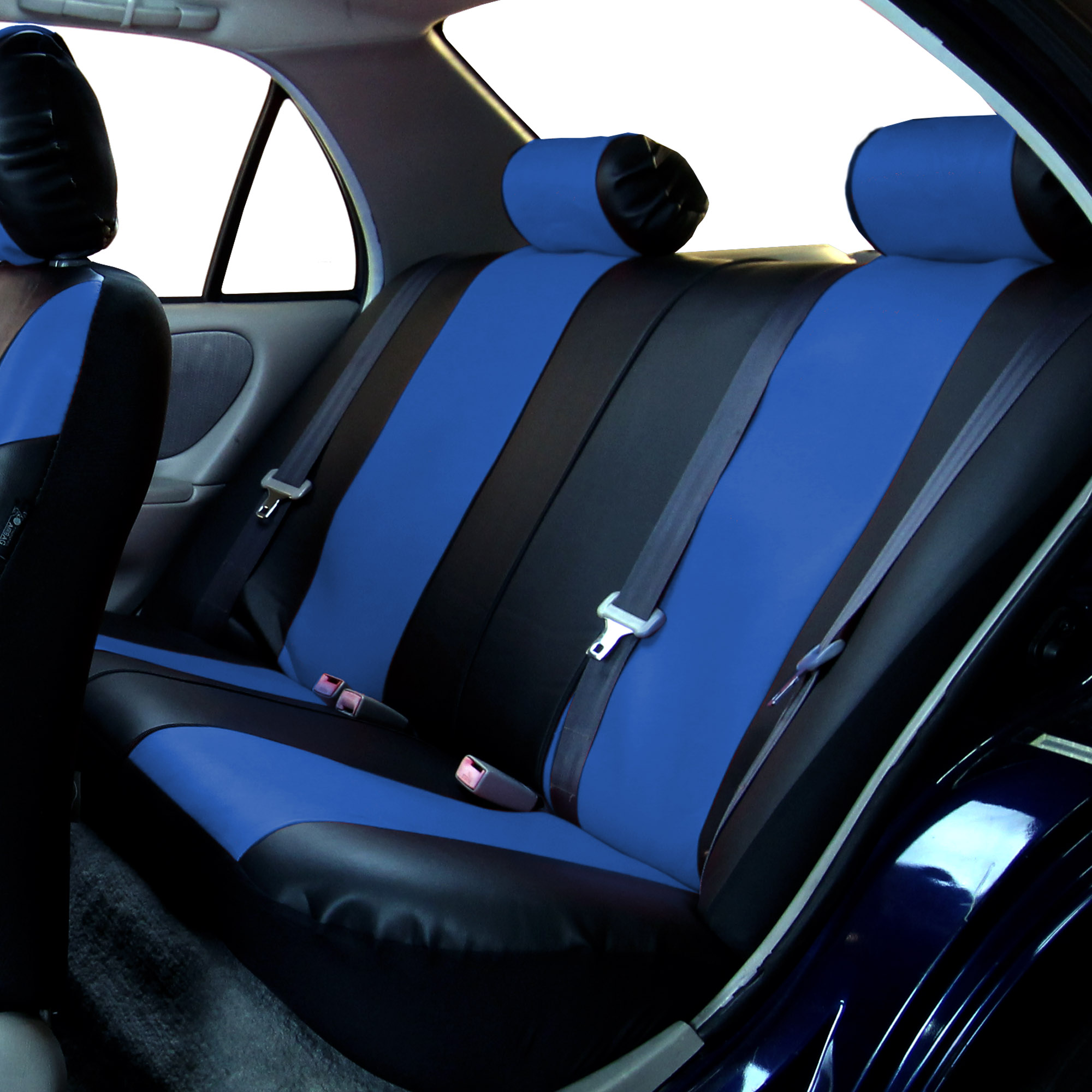 Faux Leather Car Seat Covers Luxury Sports Full Set For