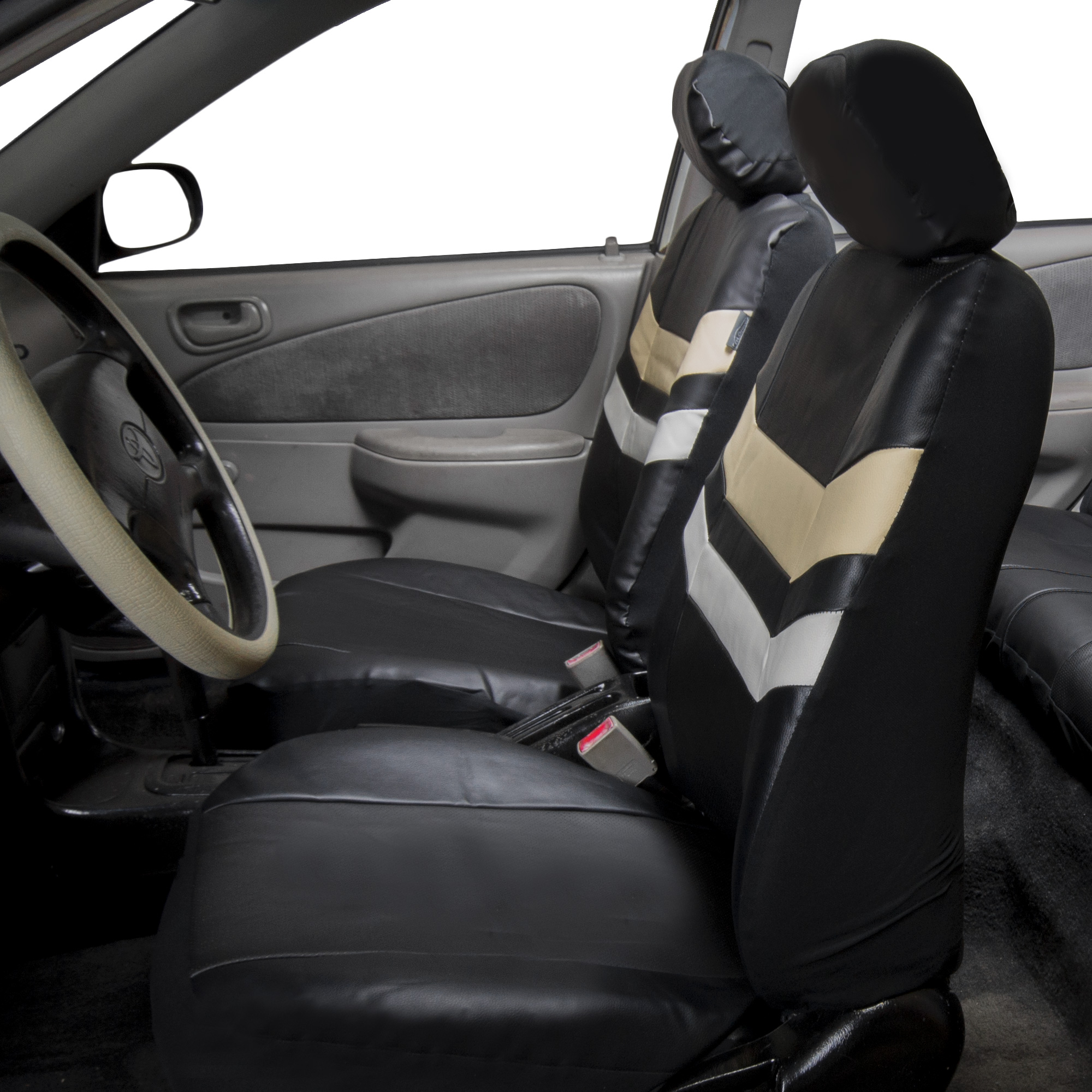auto seat covers pu leather for car van suv truck top quality 11 colors ebay. Black Bedroom Furniture Sets. Home Design Ideas