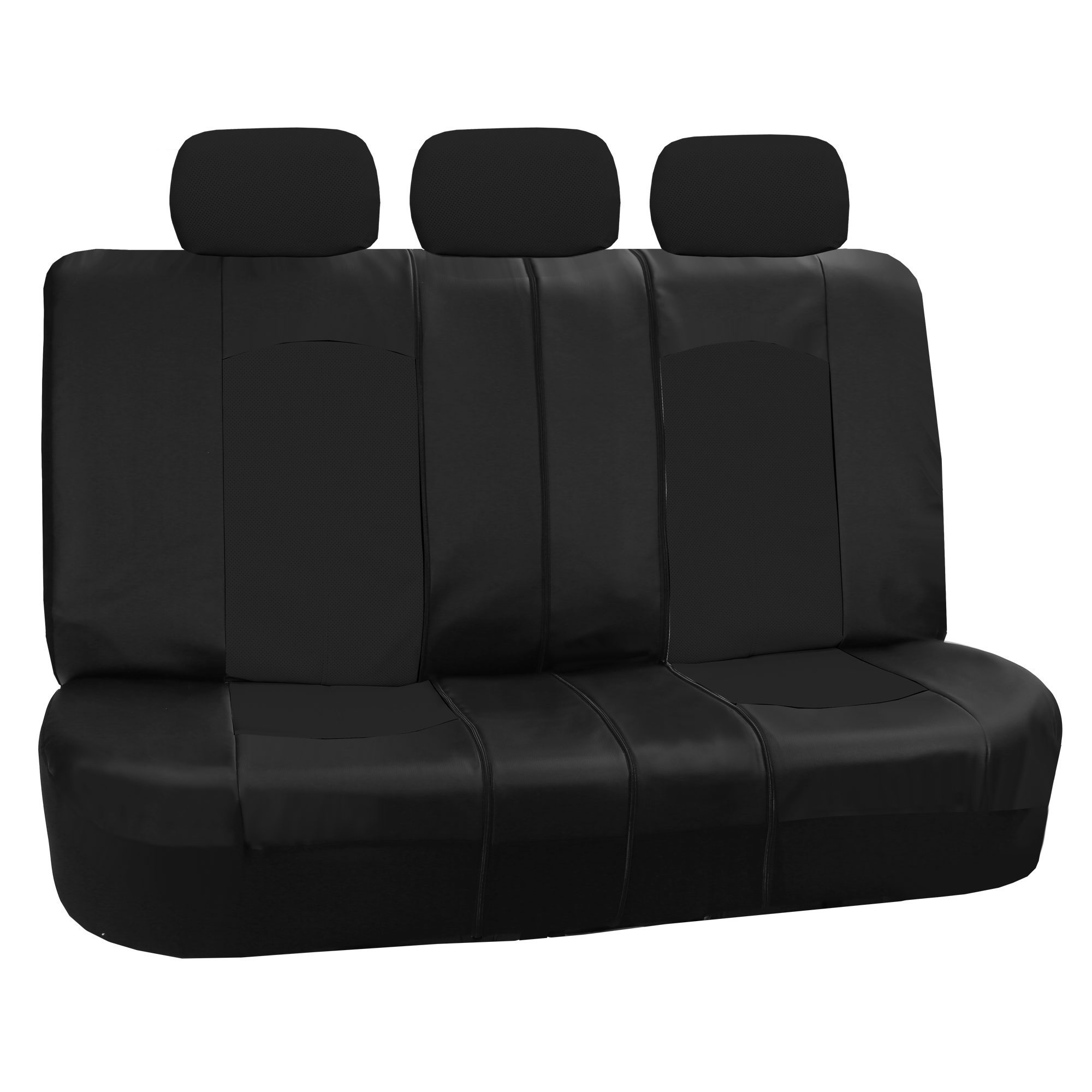 Marvelous photograph of   Perforated Leather Car Seat Covers Airbag Safe amp Split Bench Ready with #666666 color and 2000x2000 pixels