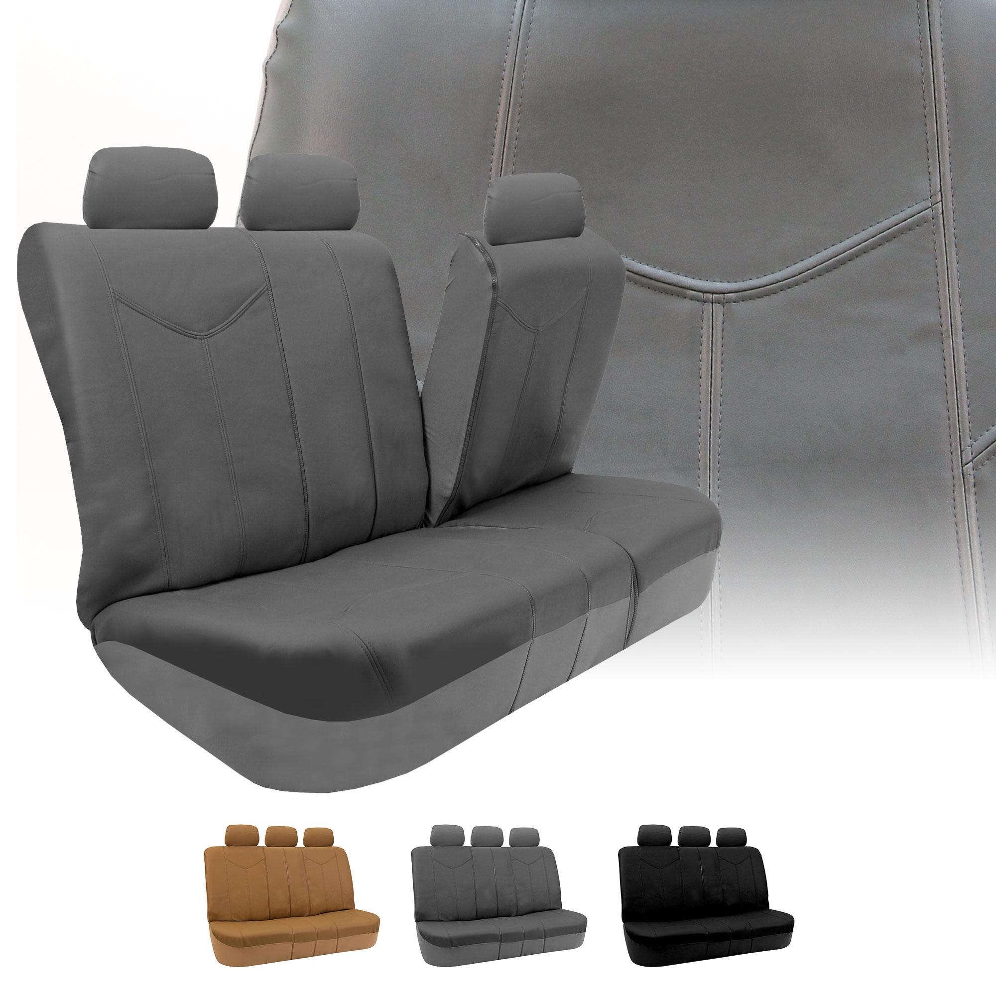 Rome Pu Leather Car Seat Covers Full Set Air Bag Safe