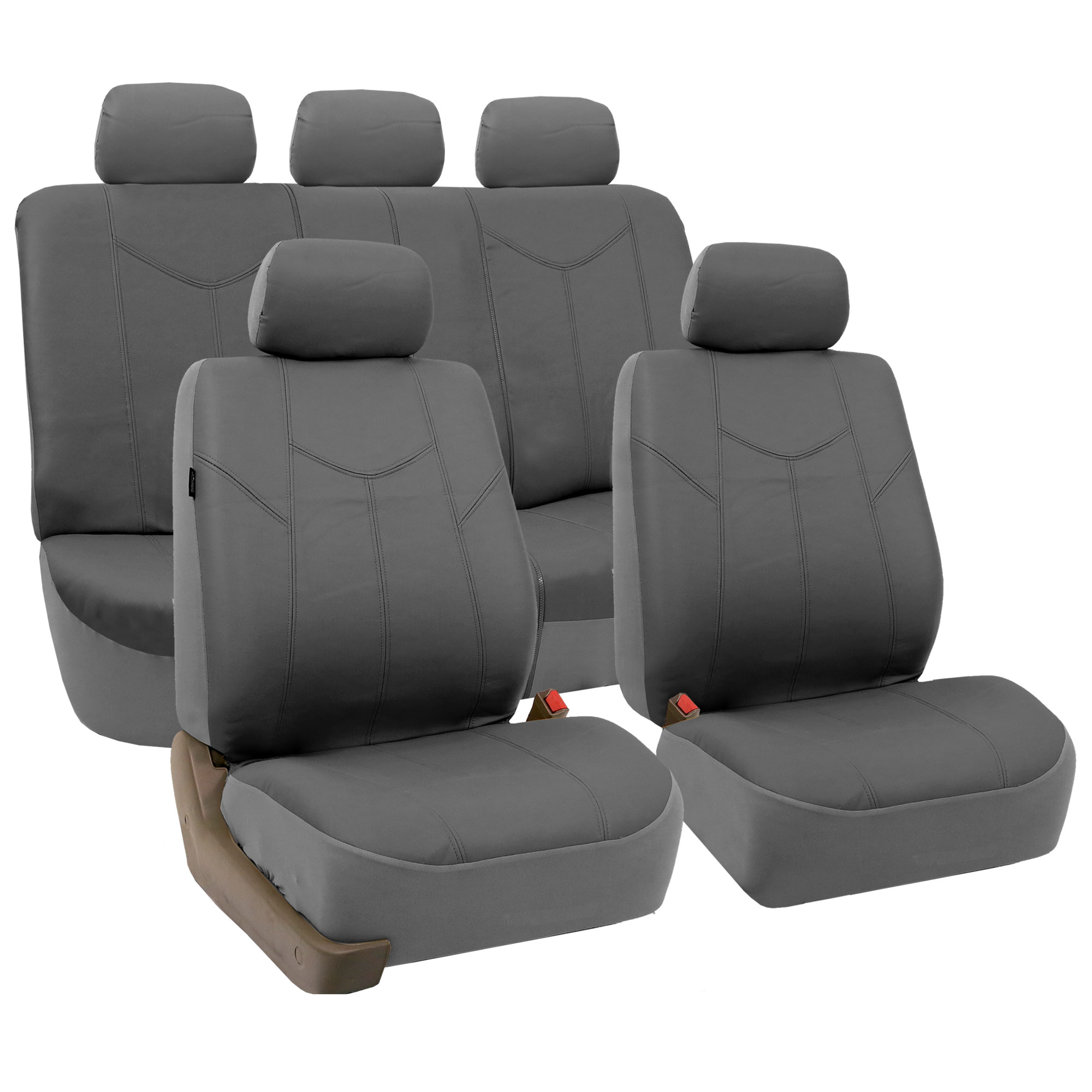 Very Impressive portraiture of   Leather 3 Row Seat Covers For VAN Air Bag Safe amp Split Bench Ready with #AD291E color and 2000x2000 pixels