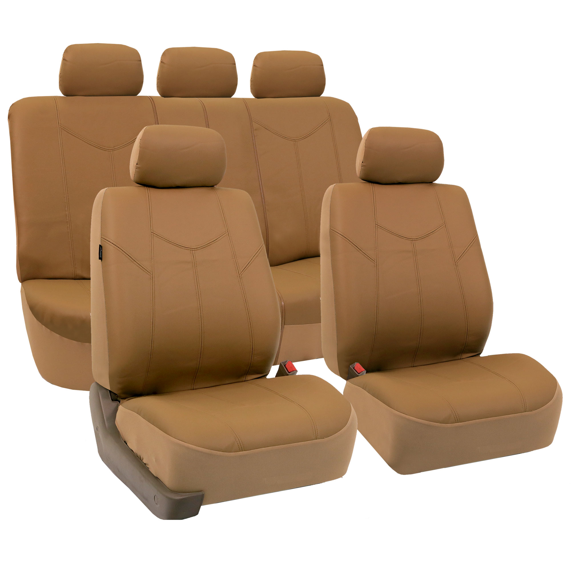Rome pu leather car seat covers full set air bag safe for Is ready set decor legit