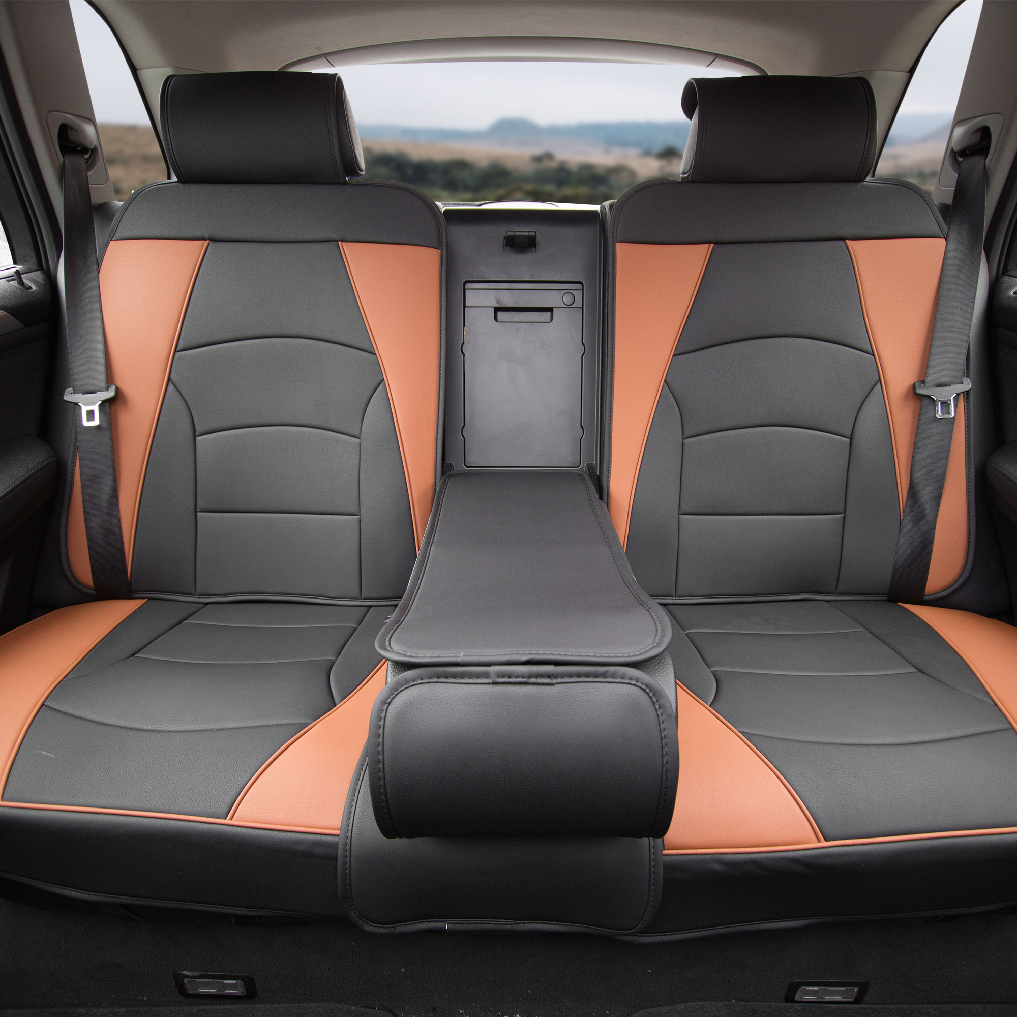 pu leather seat cushion cover w gray floor mats headrests for auto 5 colors ebay. Black Bedroom Furniture Sets. Home Design Ideas