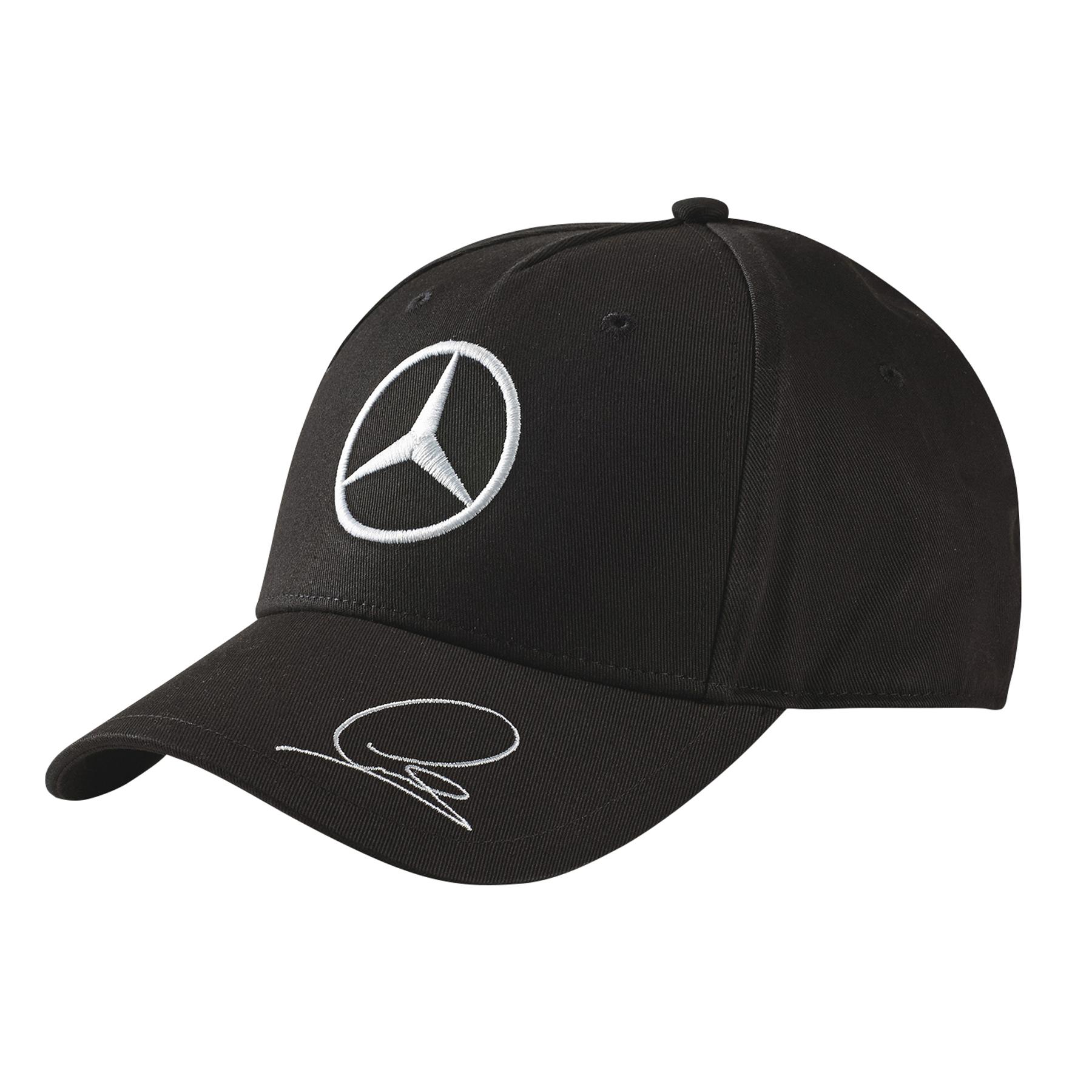 Mercedes amg petronas lewis hamilton cap in black ebay for Mercedes benz amg hat