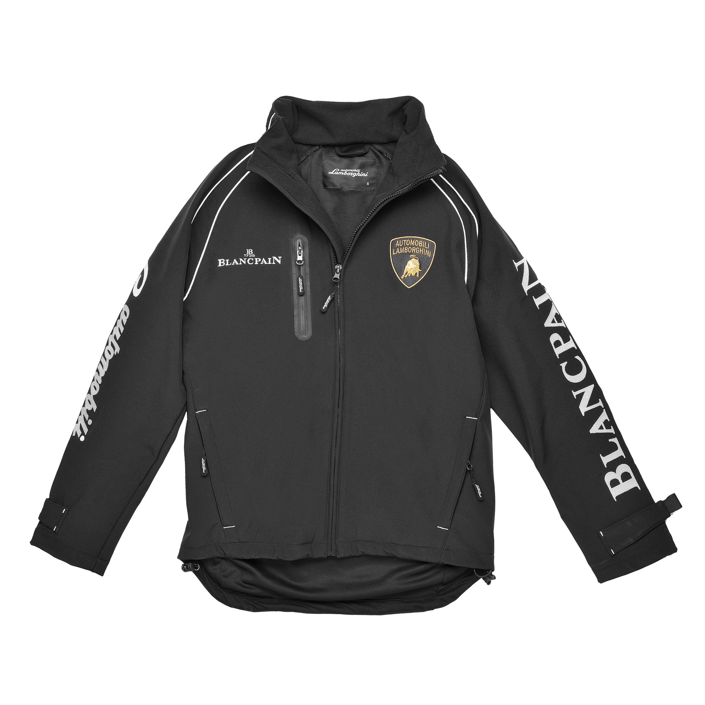 Lamborghini Men S Super Trofeo Soft Shell Jacket Black
