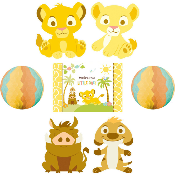 lion king baby shower room decorating kit party supplies decor disney