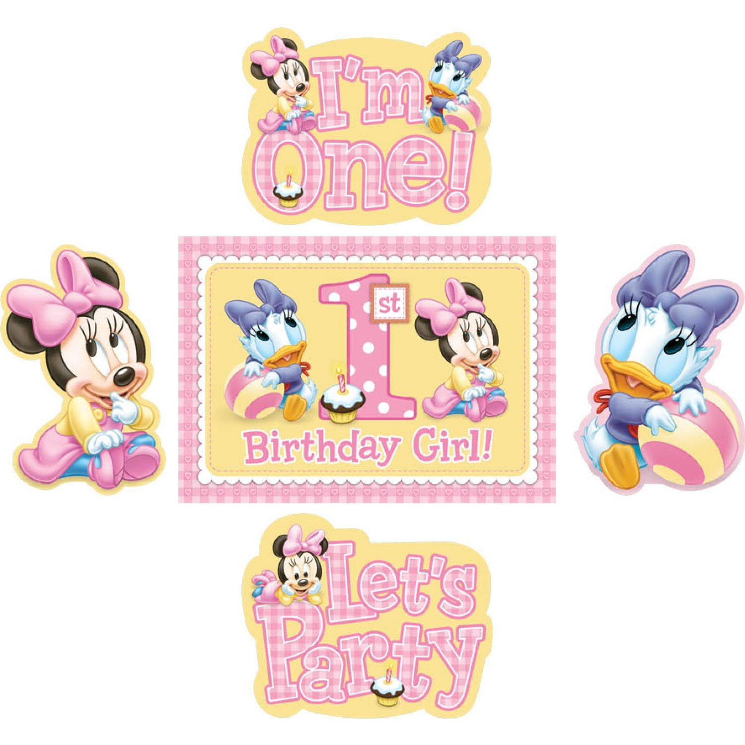 Baby minnie mouse 1st birthday room decorating kit party for Baby minnie mouse party decoration