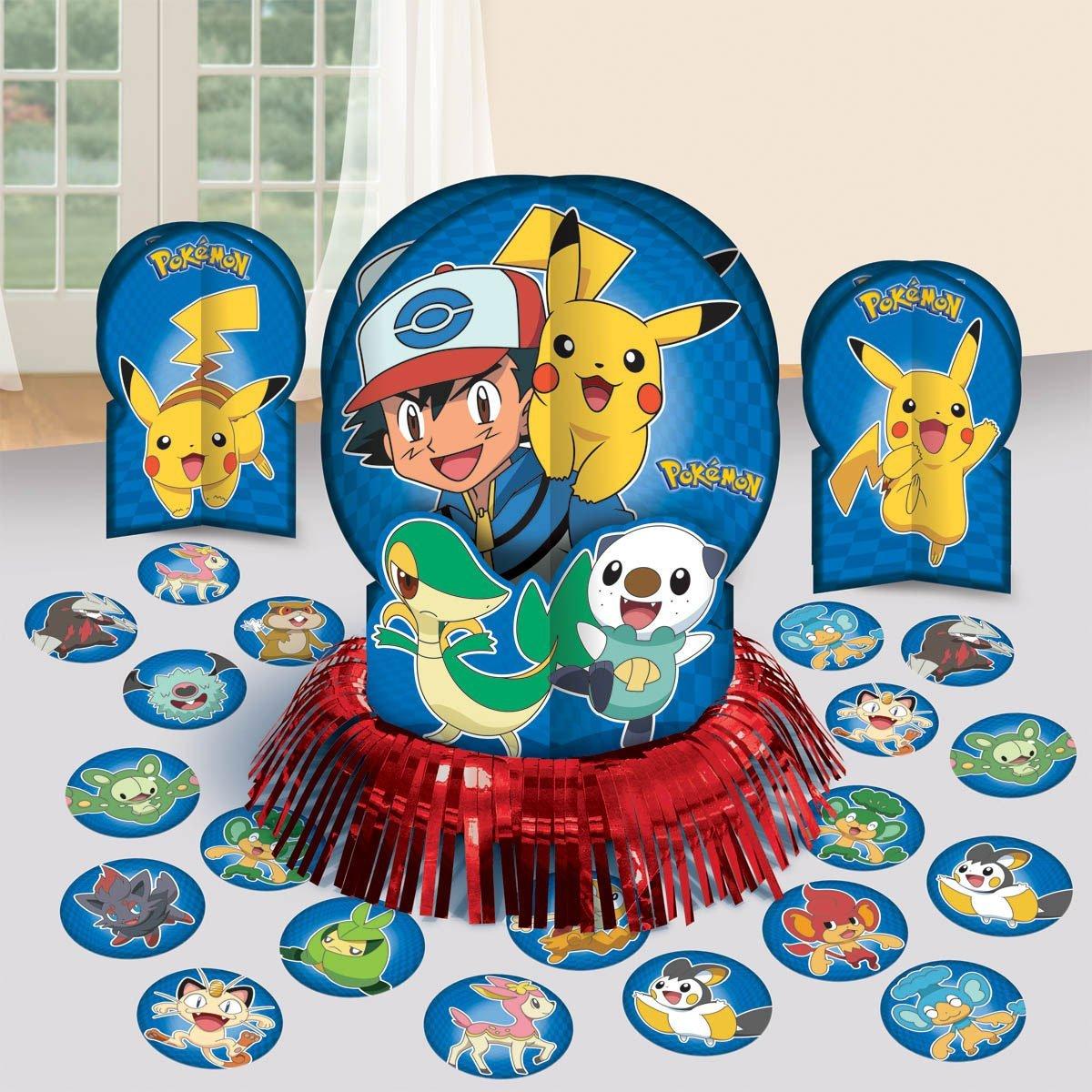 ... Pokemon Birthday Table Decorating Kit Party Supplies Decor Decorations