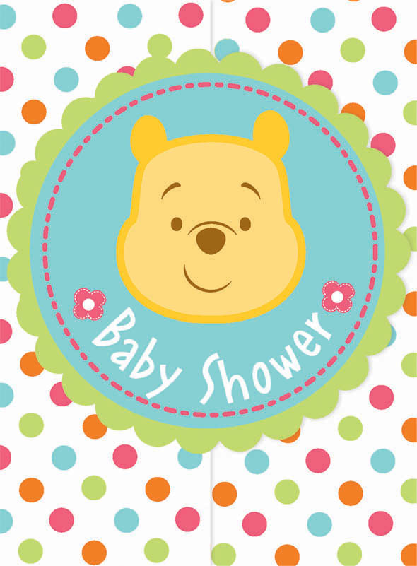 Winnie The Pooh Baby Shower Invitations 8 Invites Cards Disney
