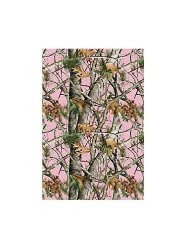 Next pink camo heavy duty 54 x108 plastic tablecover for Pink camo decorations