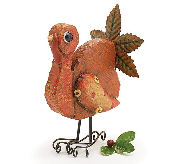 Whimsical Thanksgiving Turkey Figurine Holiday Centerpiece
