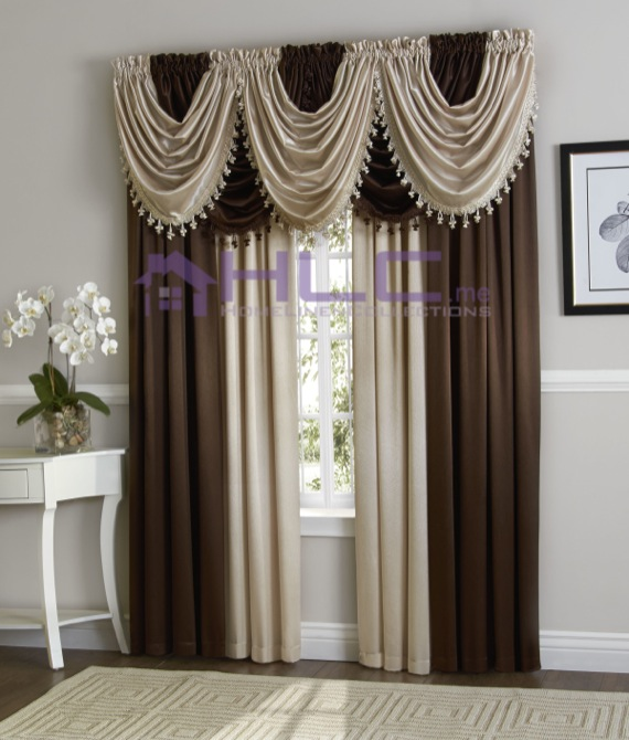 Hilton Luxurious Window Treatment Curtain Panel & Valance | eBay