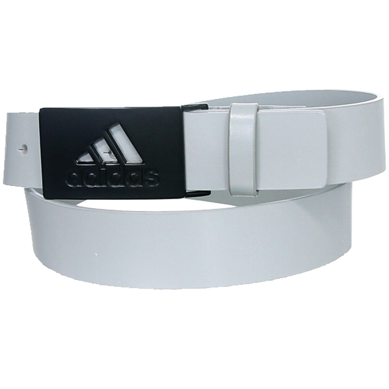 This adidas Smooth Leather Belt gives you a touch of Euro style with a 3-Stripe Cutout buckle. Compliment your golf outfit with a stylish new belt from adidas Golf! Made of 100% full grain leather. Smooth belt strap with single loop. Adidas 3-Stripe Cutout buckle. Single prong fastener. Wear the sam