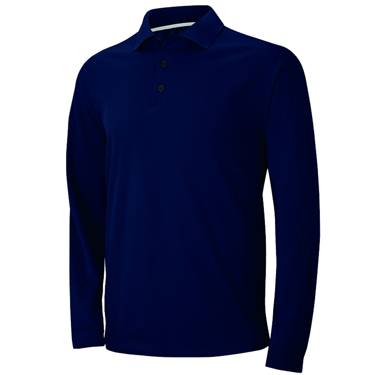 Adidas golf men 39 s climalite long sleeve pique polo shirt for Mens golf polo shirts