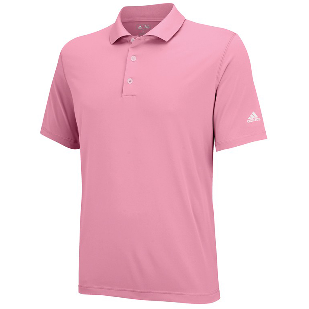 Adidas golf men 39 s puremotion solid jersey polo shirt ebay for Polo golf shirts for men