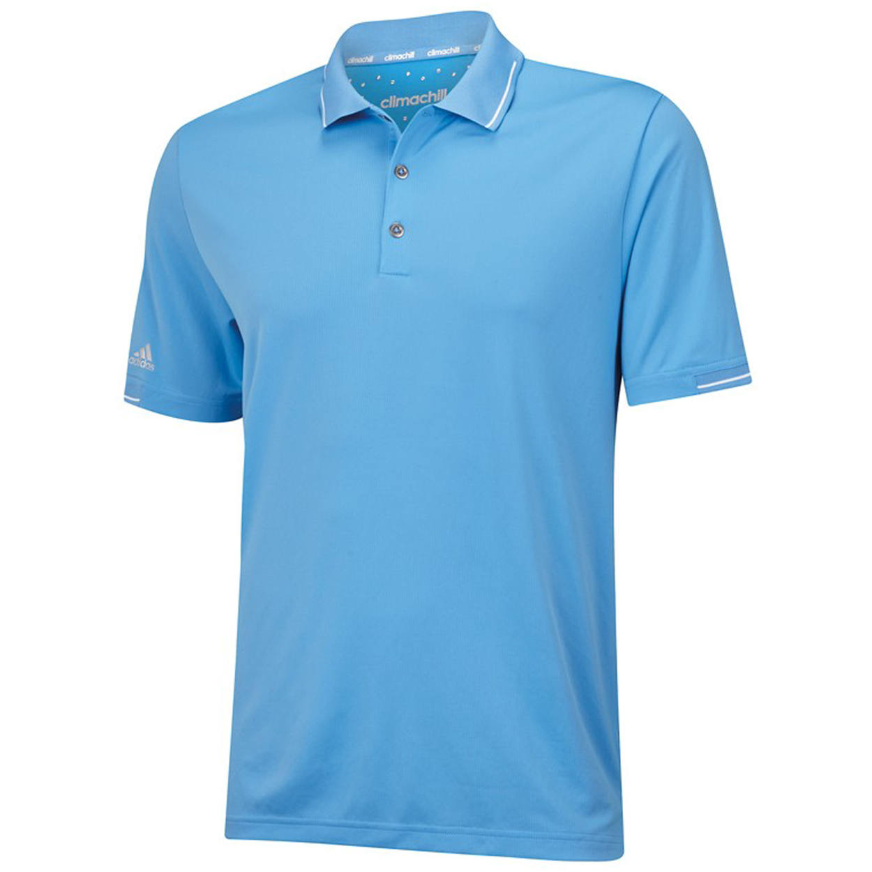 Adidas golf men 39 s climachill solid polo shirt brand new for Polo brand polo shirts