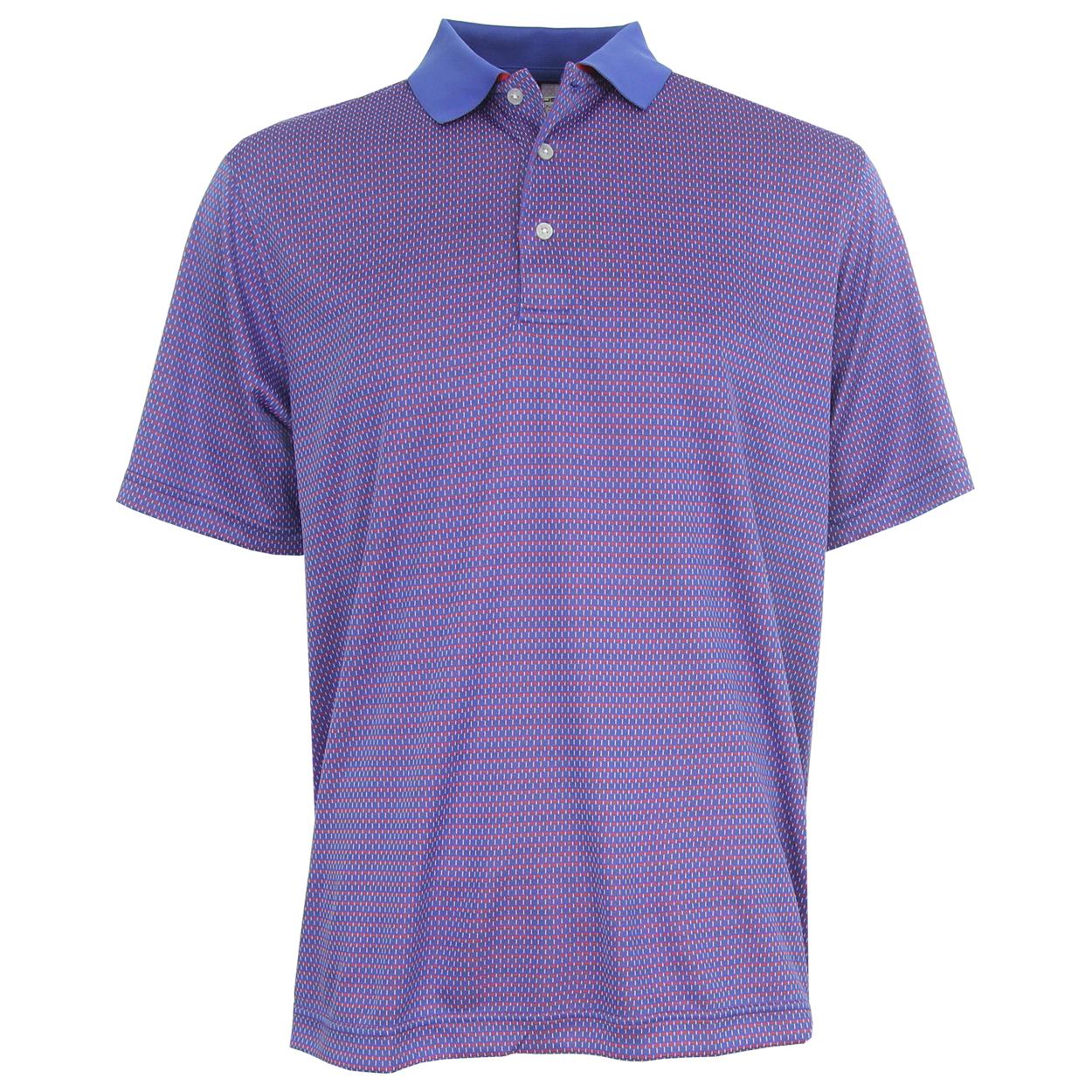 Carnoustie performance jacquard knit polo golf shirt for Polo brand polo shirts