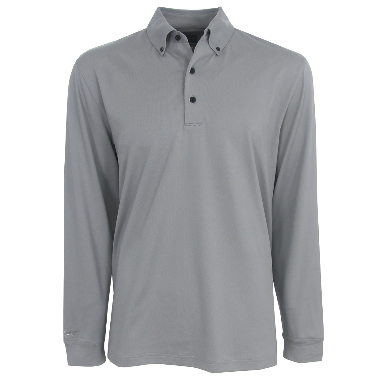 Greg norman weather knit long sleeve solid polo golf shirt for Long sleeve golf polo shirts