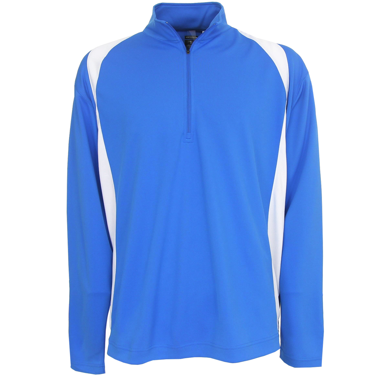 Page Tuttle Men 39 S Color Block 1 4 Zip Golf Mock Pullover