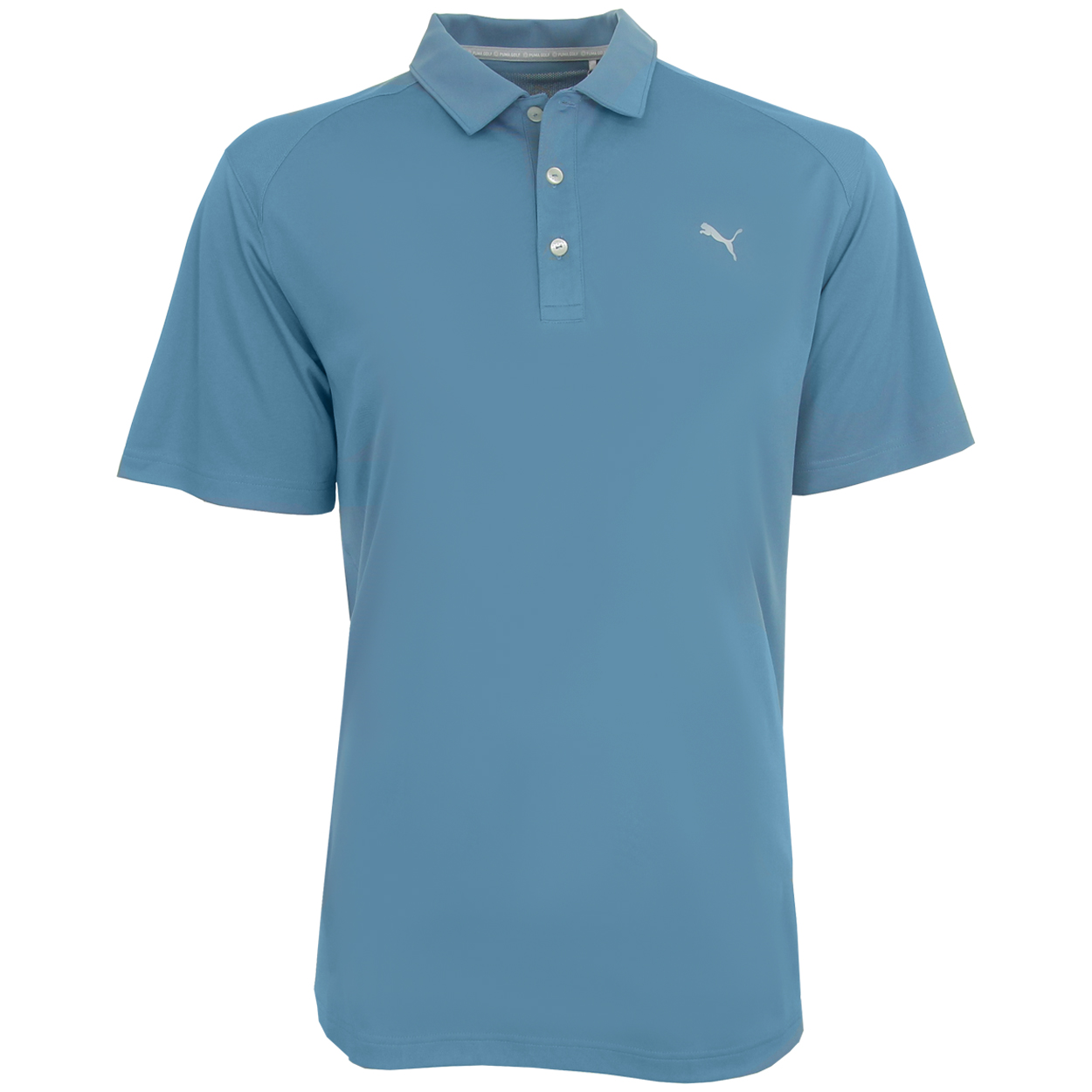 Puma golf men 39 s ess pounce polo golf shirt brand new ebay for Mens puma golf shirts