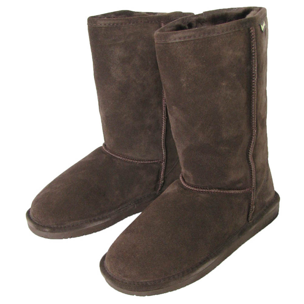 bearpaw womens 10 inch suede sheepskin boot shoe ebay