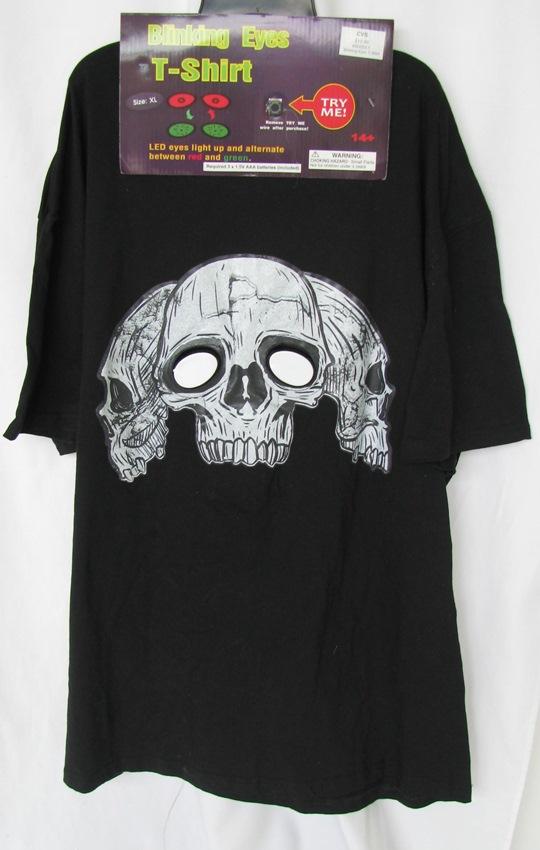 Cvs men 39 blinking eyes t shirt 39 adult costume ebay for Cvs photo t shirt