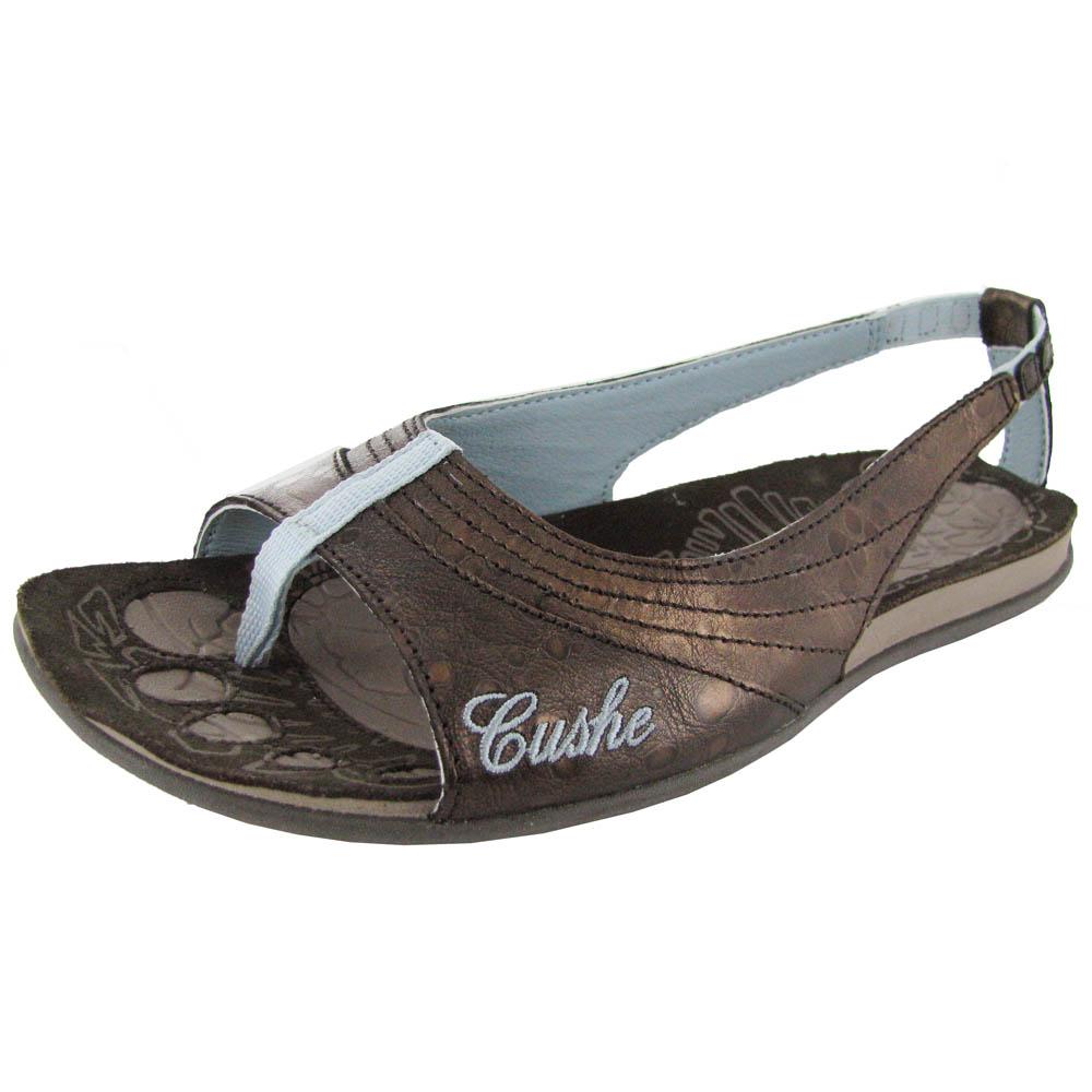 cushe womens noosa coral leather casual slip on sandal