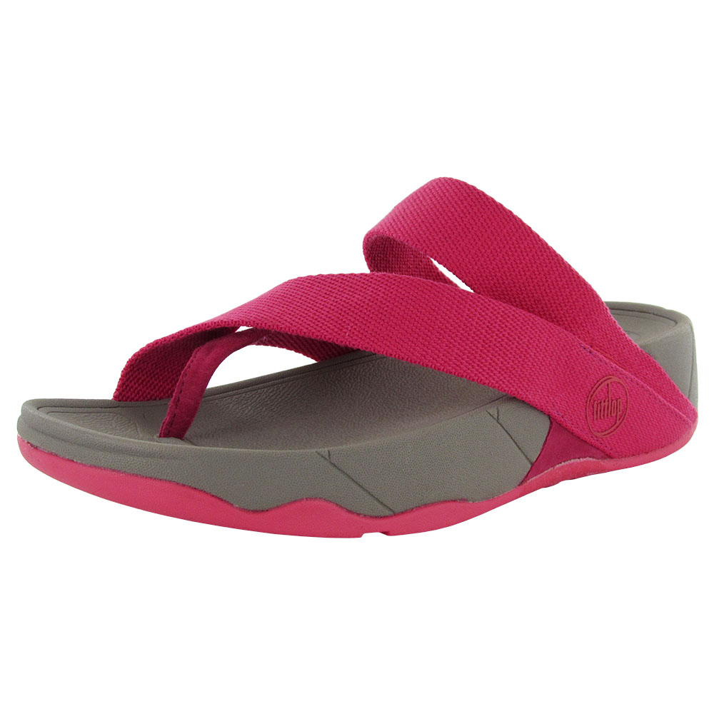 FitFlop Womens Sling Webbing Slip On Thong Sandal Shoe