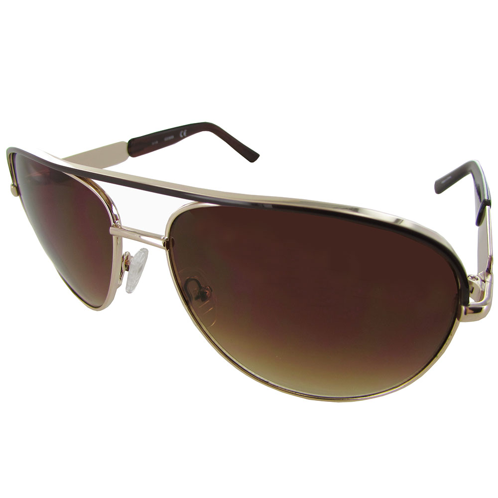 Wire Frame Glasses Trend : Guess Womens GF0287 Wire Frame Aviator Fashion Sunglasses ...