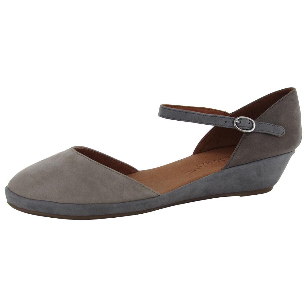 gentle souls womens noa nubuck demi wedge shoes ebay
