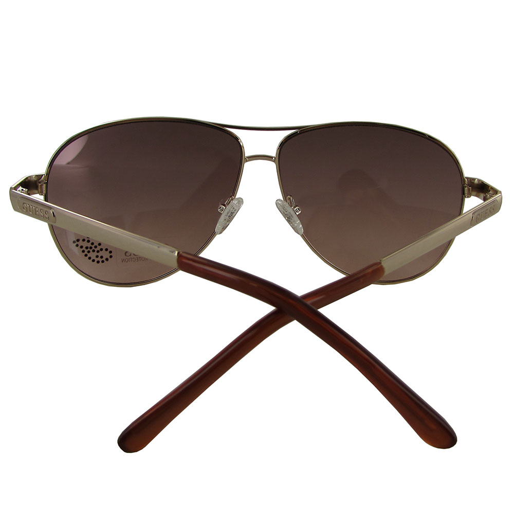 guess damen gu7365 aviator modische sonnenbrille gold ebay. Black Bedroom Furniture Sets. Home Design Ideas
