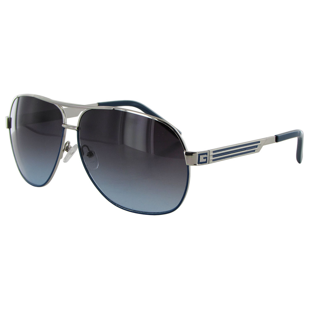 Guess Wire Frame Glasses : Guess Mens GUF115 Wire Rim Fashion Sunglasses MartLocal