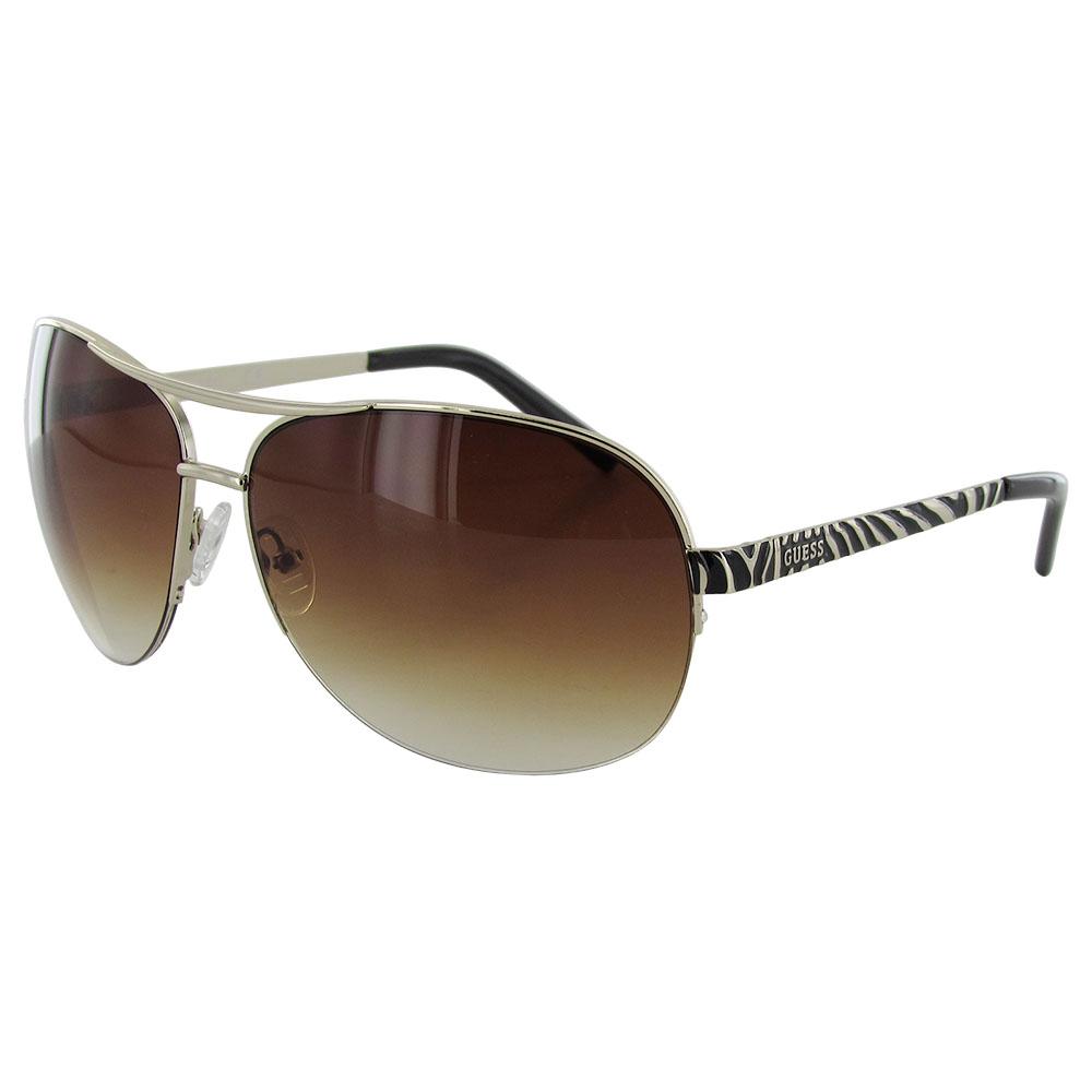 Guess Wire Frame Glasses : Guess Womens GUF219 Wire Rim Aviator Fashion Sunglasses