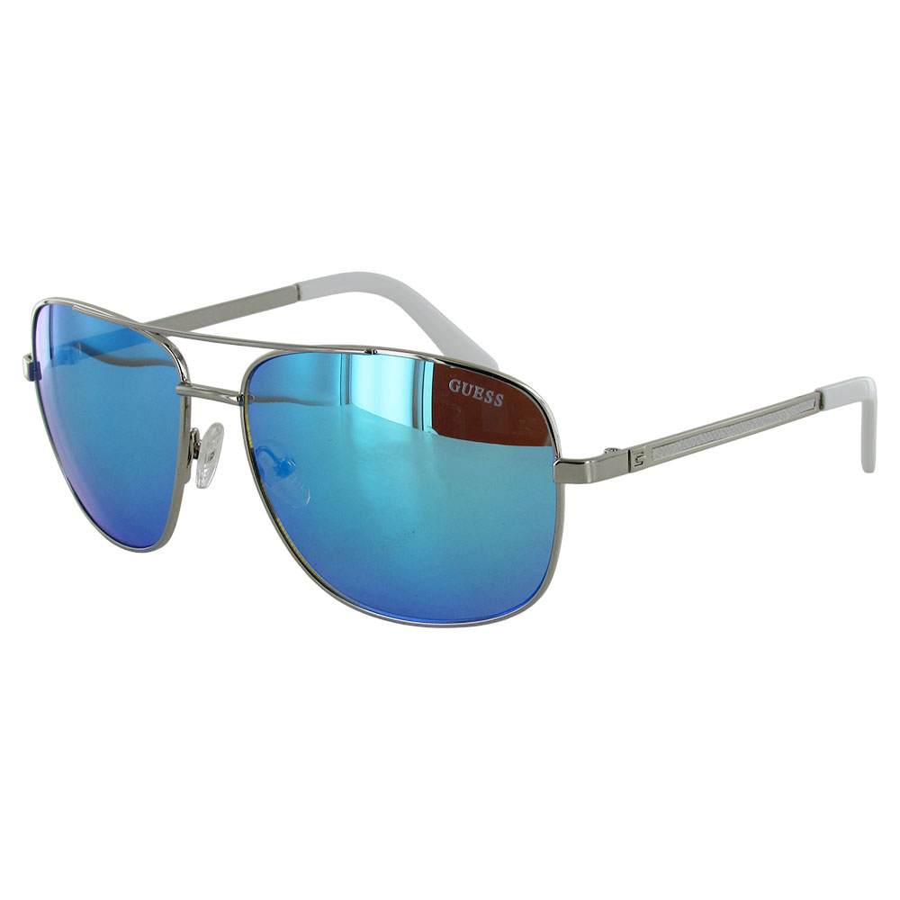 Guess Wire Frame Glasses : Guess Mens GF0167 Aviator Wire Frame Fashion Sunglasses eBay