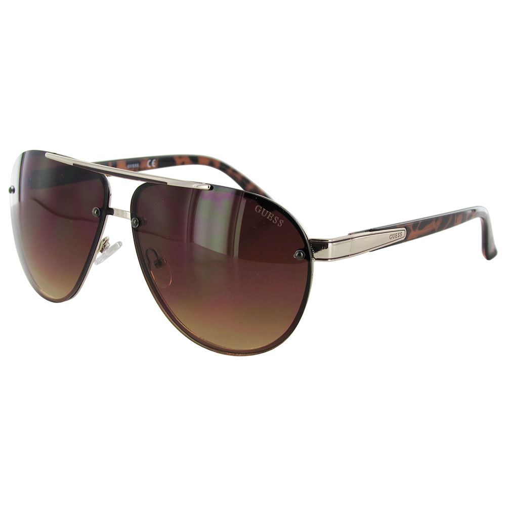 Wire Frame Glasses Trend : Guess Mens GF0165 Aviator Wire Frame Fashion Sunglasses eBay