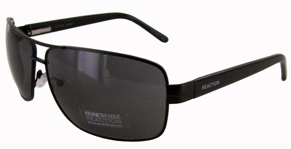 Kenneth Cole Reaction 1159 Aviator Sunglasses Black