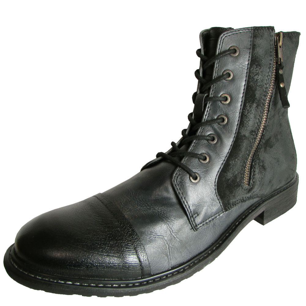 kenneth cole reaction mens hit leather cap toe boot ebay