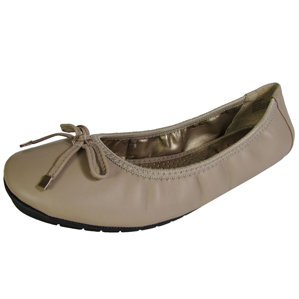 Me Too Womens Halle Leather Ballet Flat Shoe | eBay