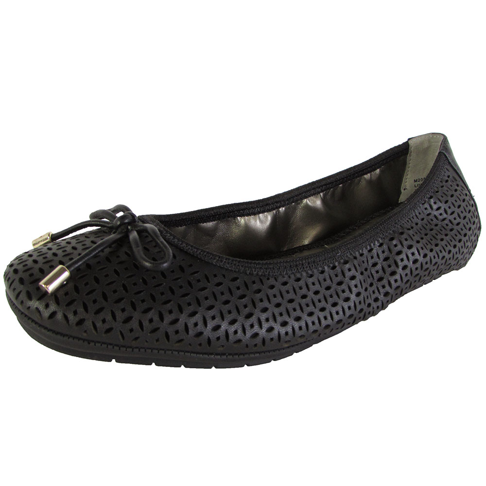 Me Too Womens Livia Leather Ballet Flat Shoes | eBay