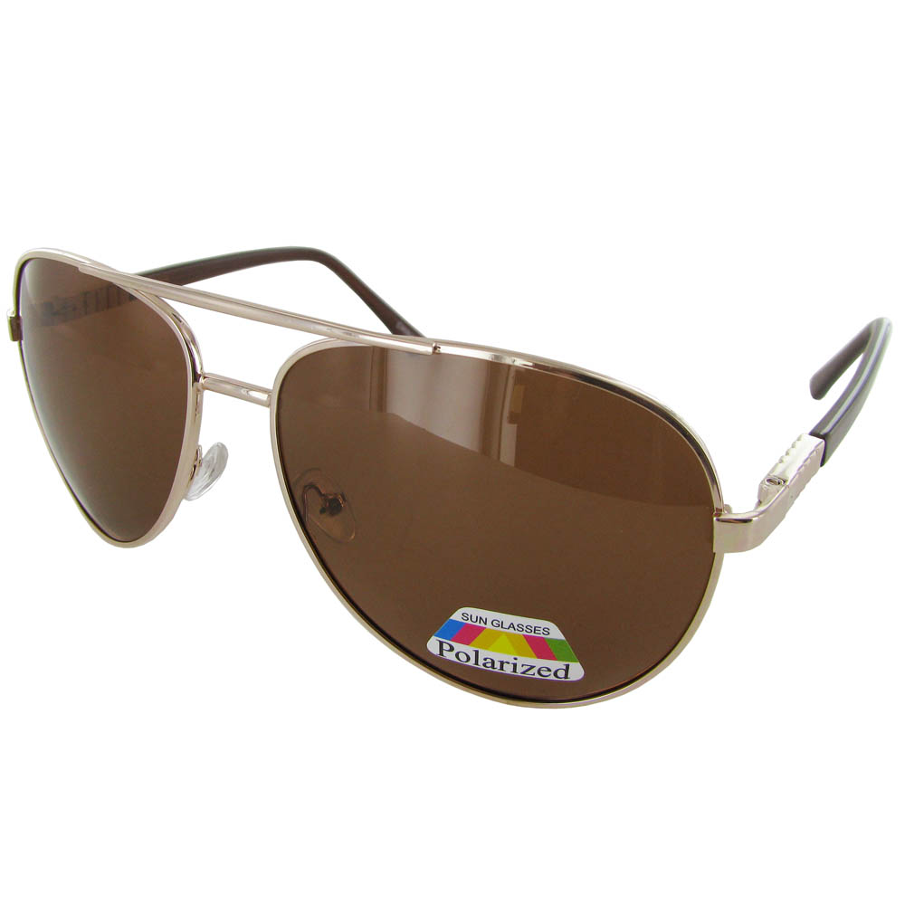 Polarized Eyewear PL113 Metal Frame Aviator Style ...