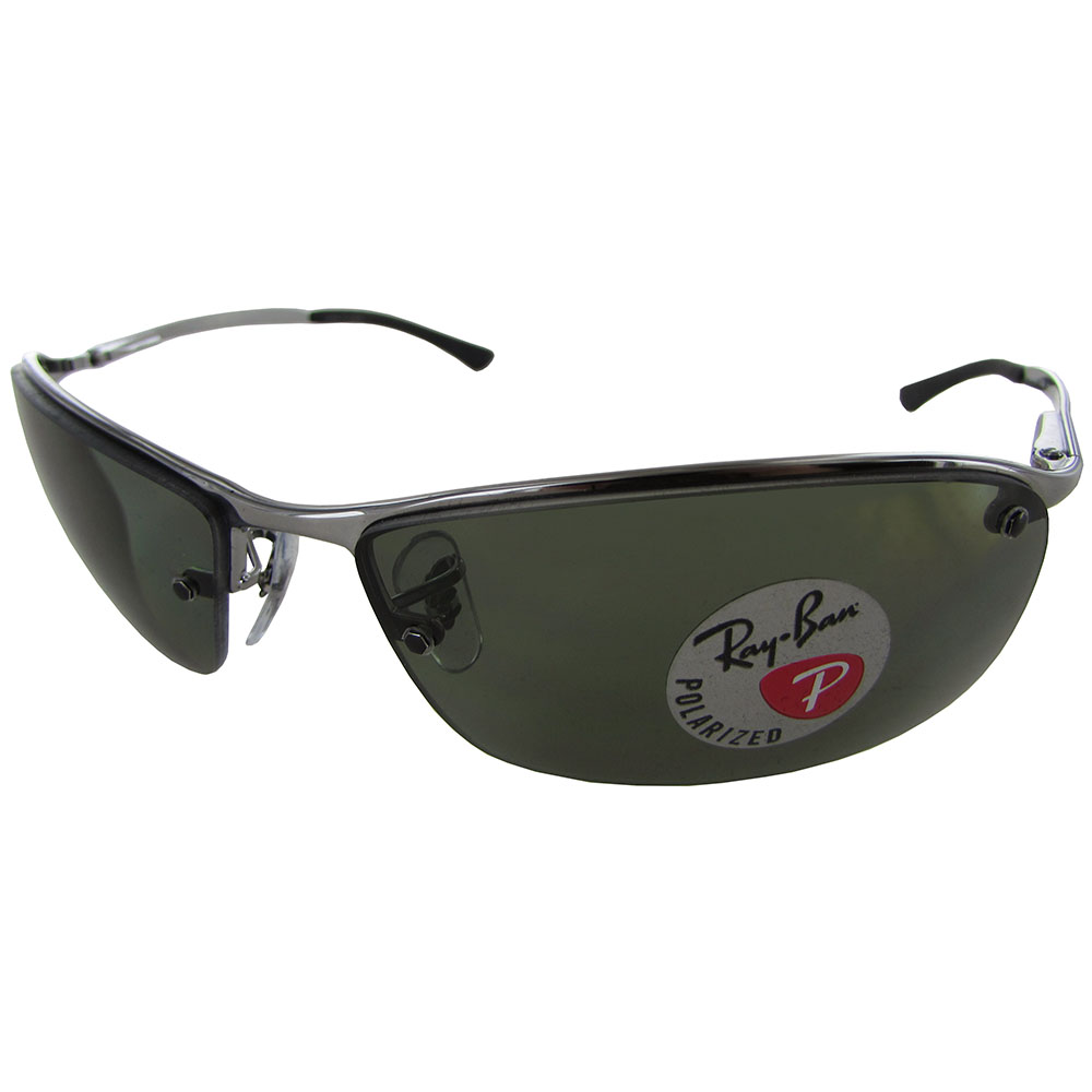 Rimless Polarized Sunglasses : Ray Ban Mens RB3183 Semi Rimless Polarized Sunglasses eBay