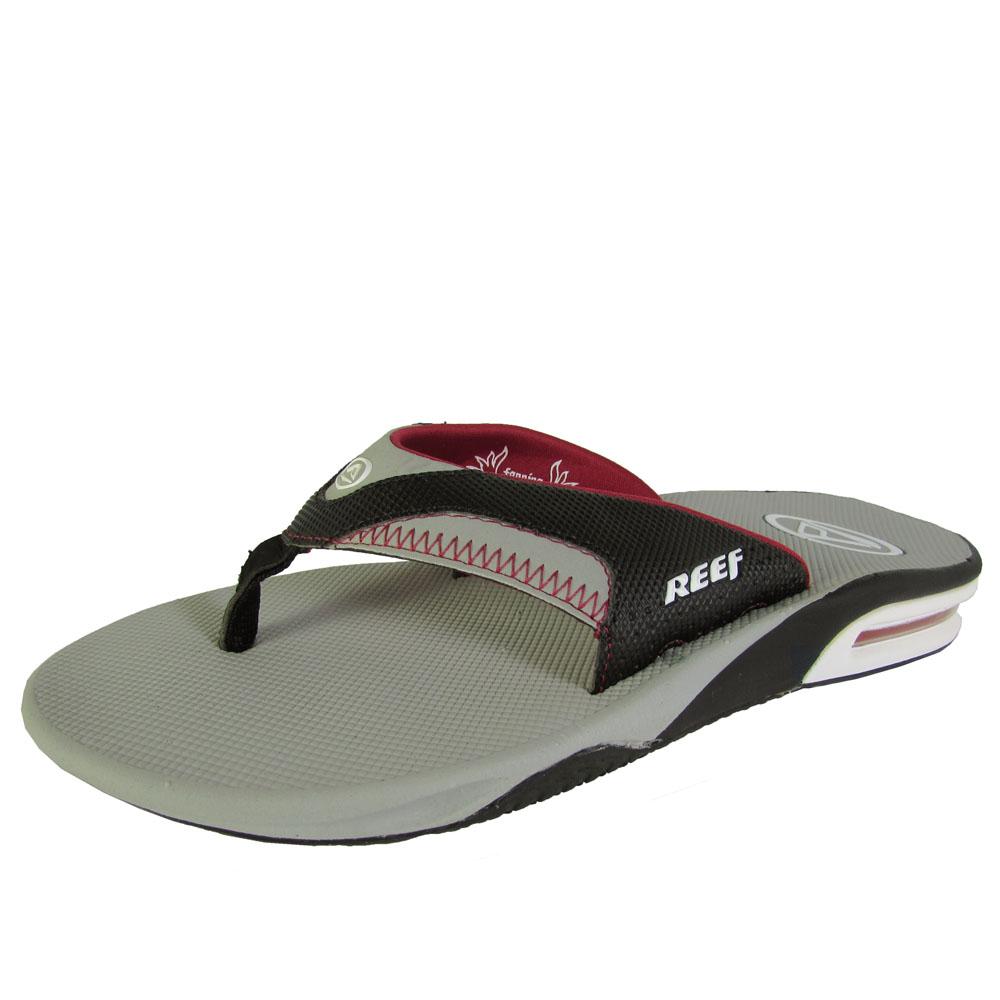 reef mens fanning thong flip flop sandal shoes ebay. Black Bedroom Furniture Sets. Home Design Ideas
