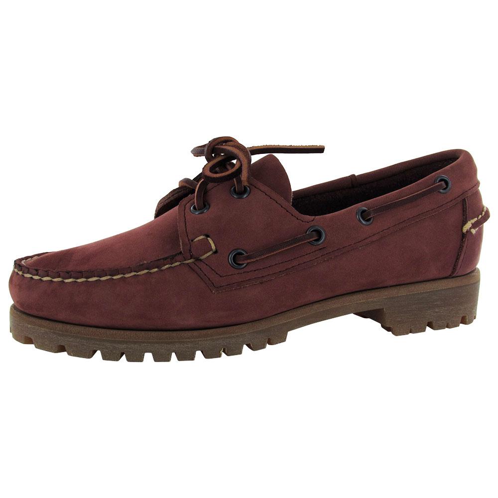 sebago womens harbor leather boat shoe