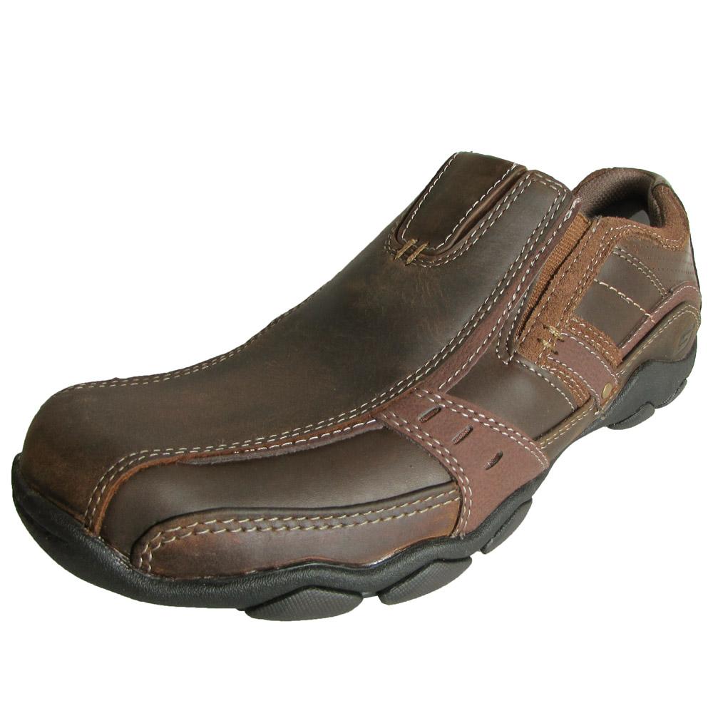 skechers mens 62895 diameter garzo leather slip on shoe