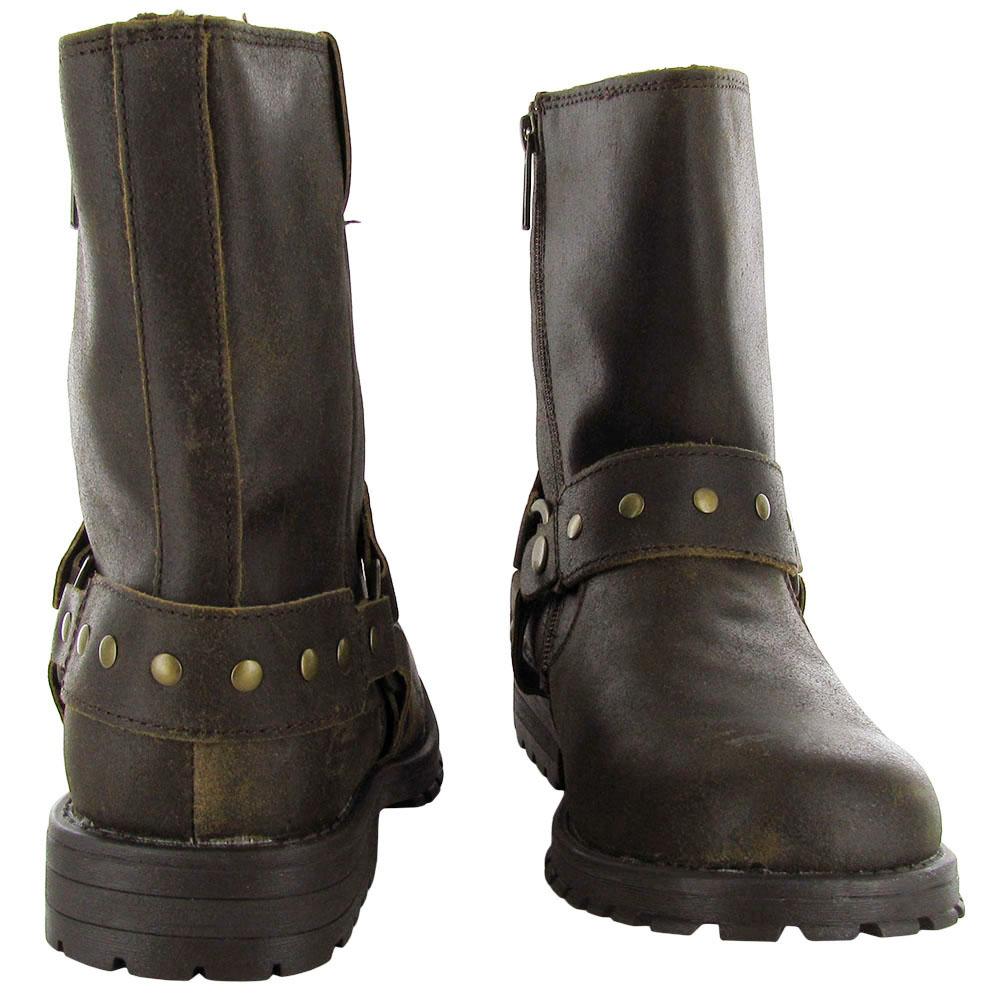 Skechers Mens 63882 Zenith-Igore Zip Up Leather Boot Shoe   eBay