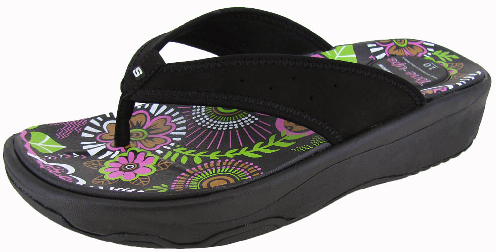 Skechers-Tone-Up-Womens-039-Electric-Slide-039-Sandals