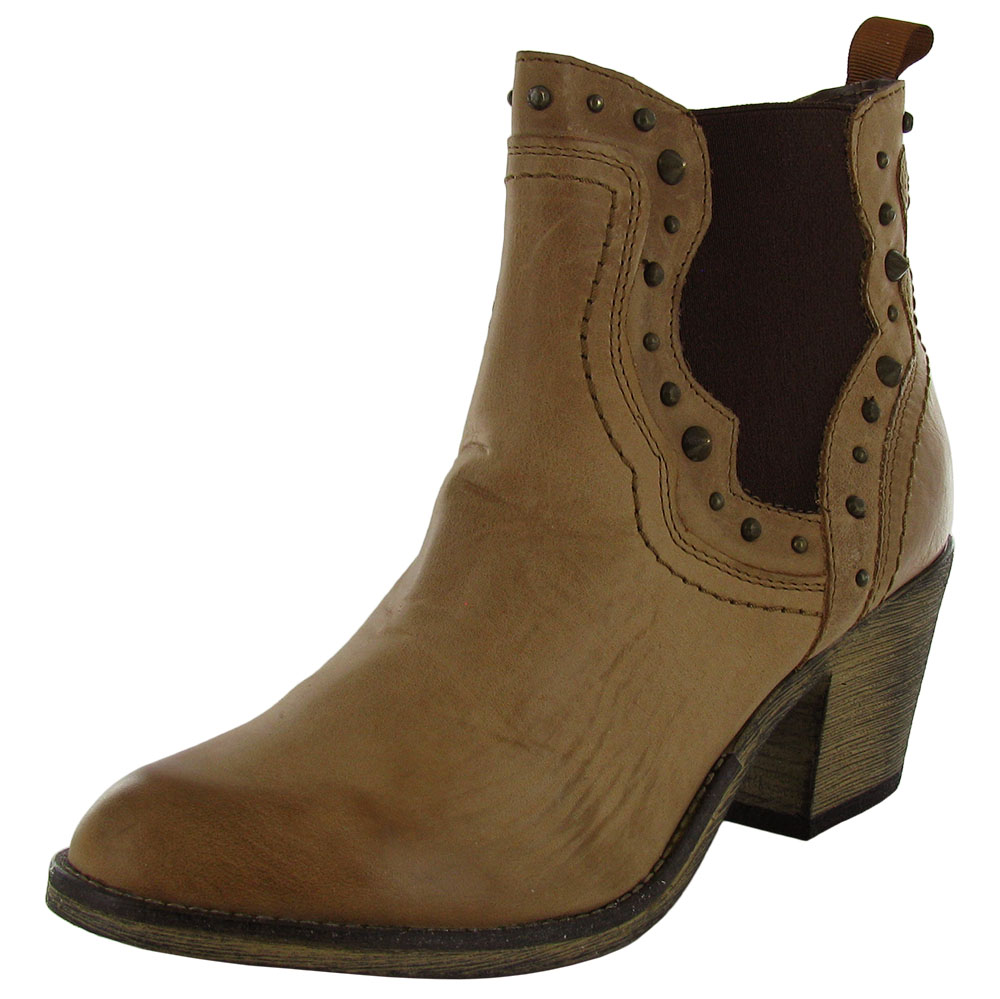 steve madden womens concrete zip western ankle boot shoe