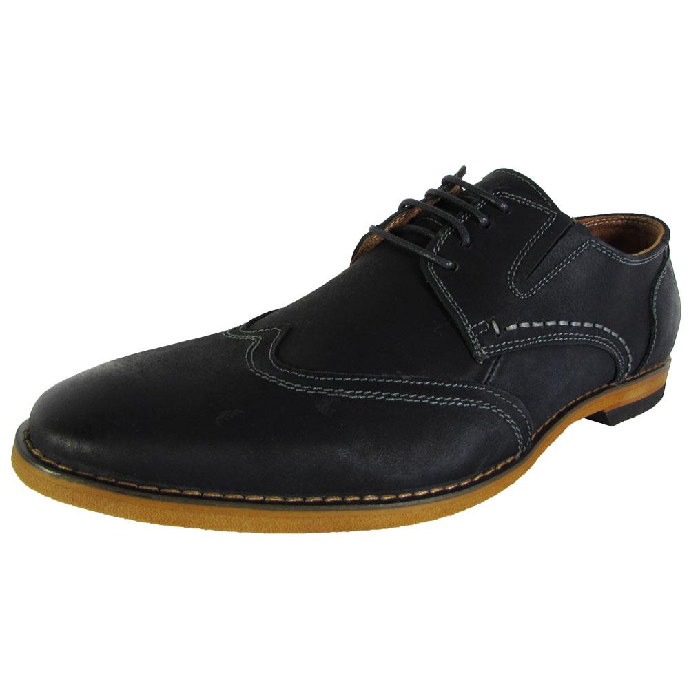 steve madden mens jeneral wingtip oxford dress shoes ebay